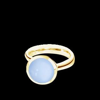 Tamara Comolli Ring Bouton Blauer Chalcedon L R-BOU-L-CHBL-YG