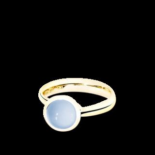 Tamara Comolli Ring Bouton Blauer Chalcedon S R-BOU-S-CHBL-YG