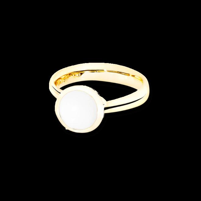 Ring Tamara Comolli Bouton Cacholong S aus 750 Gelbgold mit 1 Cacholong bei Brogle