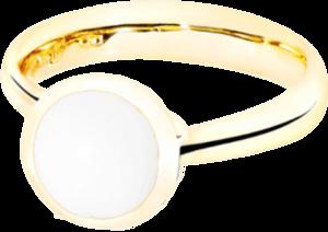 Ring Tamara Comolli Bouton Cacholong S aus 750 Gelbgold mit 1 Cacholong