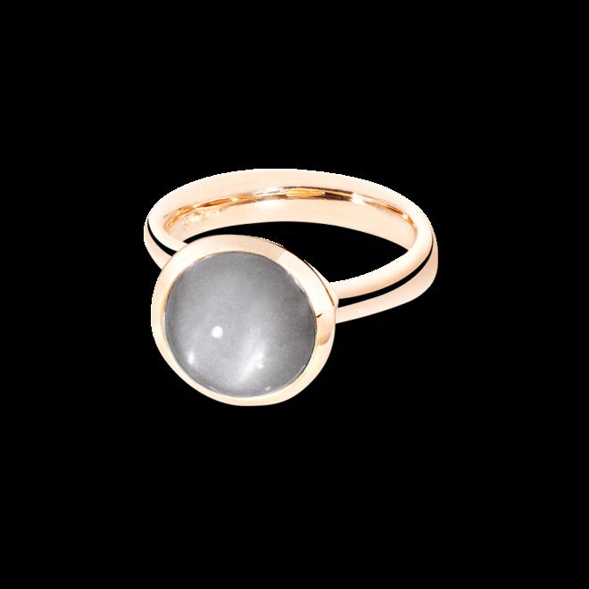 Ring Tamara Comolli Bouton Grauer Mondstein L aus 750 Roségold mit 1 Mondstein