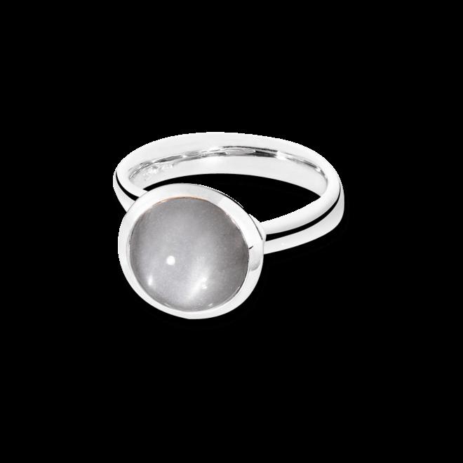 Ring Tamara Comolli Bouton Grauer Mondstein L aus 750 Weißgold mit 1 Mondstein
