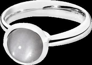 Ring Tamara Comolli Bouton Grauer Mondstein S aus 750 Weißgold mit 1 Mondstein