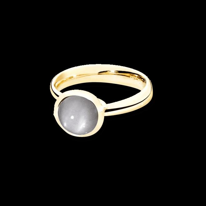 Ring Tamara Comolli Bouton Grauer Mondstein S aus 750 Gelbgold mit 1 Mondstein bei Brogle