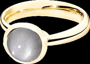 Ring Tamara Comolli Bouton Grauer Mondstein S aus 750 Gelbgold mit 1 Mondstein