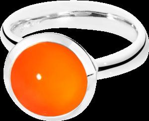 Ring Tamara Comolli Bouton Karneol L aus 750 Weißgold mit 1 Karneol