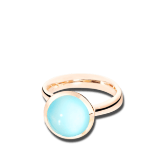 Tamara Comolli Ring Bouton L Aqua-Chalcedon R-BOU-L-CHAQ-RG