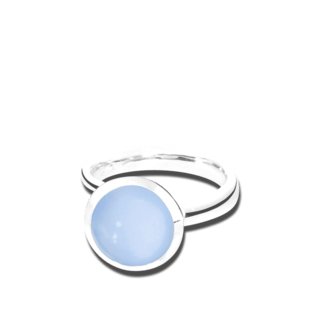 Tamara Comolli Ring Bouton L Blauer Chalcedon R-BOU-L-CHBL-WG