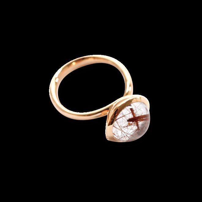 Ring Tamara Comolli Bouton L Rutilquarz aus 750 Roségold mit 1 Rutilquarz
