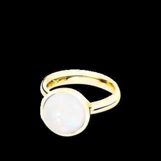 Tamara Comolli Ring Bouton L Weißer Mondstein R-BOU-L-MOWH-YG