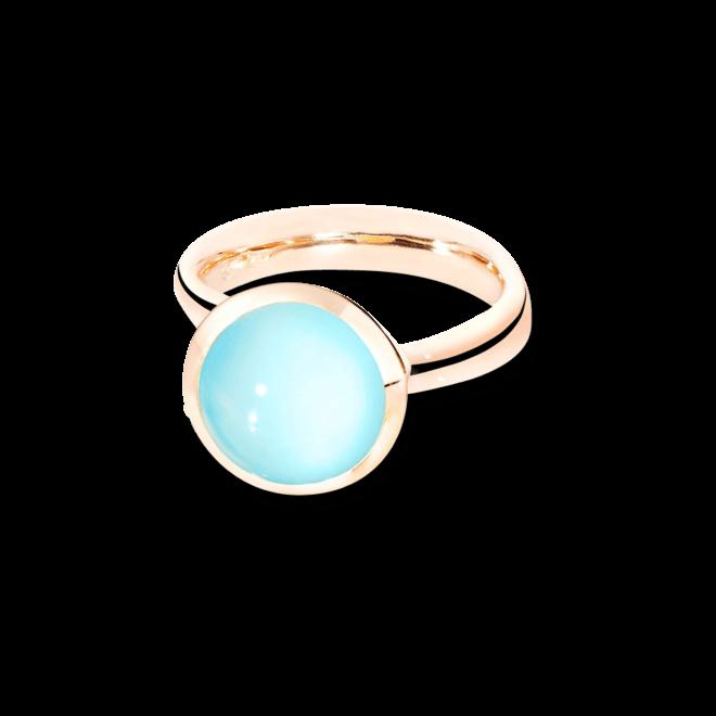 Ring Tamara Comolli Bouton Large Aqua Chalcedon aus 750 Roségold mit 1 Chalcedon