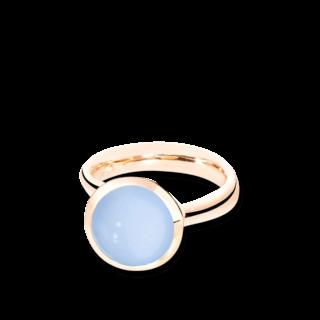 Tamara Comolli Ring Bouton Large Blauer Chalcedon R-BOU-L-CHBL-RG