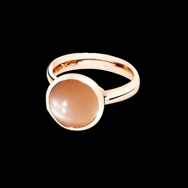Ring Tamara Comolli Bouton Large Brauner Mondstein aus 750 Roségold mit 1 Mondstein