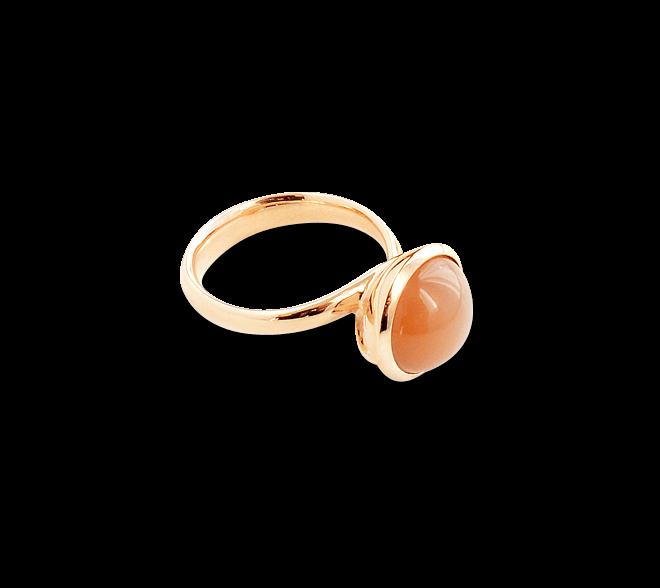 Ring Tamara Comolli Bouton Large Caramel Mondstein aus 750 Roségold mit 1 Mondstein