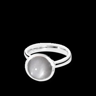 Tamara Comolli Ring Bouton Large Grauer Mondstein R-BOU-L-MOGR-WG