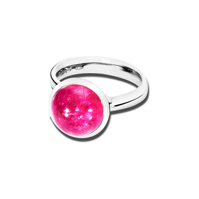 Ring Tamara Comolli Bouton Large Pink Turmalin aus 750 Weißgold mit 1 Turmalin