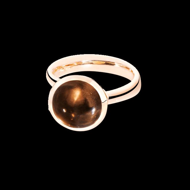Ring Tamara Comolli Bouton Large Rauchquarz aus 750 Roségold mit 1 Rauchquarz