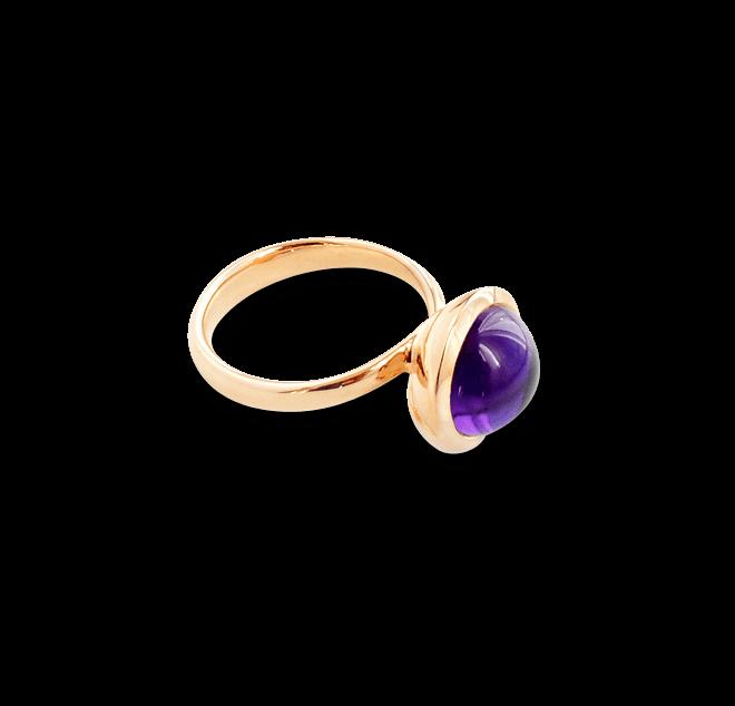 Ring Tamara Comolli Bouton Large aus 750 Roségold mit 1 Chalcedon