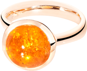Ring Tamara Comolli Bouton Mandarin-Granat L aus 750 Roségold mit 1 Granat