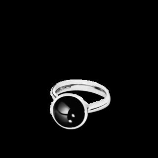 Tamara Comolli Ring Bouton Onyx S R-BOU-S-ONYX-WG