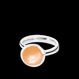Tamara Comolli Ring Bouton Orangefarbener Mondstein L R-BOU-L-MOOR-WG