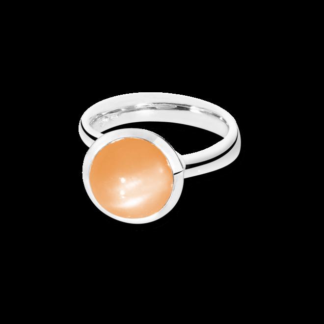 Ring Tamara Comolli Bouton Orangefarbener Mondstein L aus 750 Weißgold mit 1 Mondstein