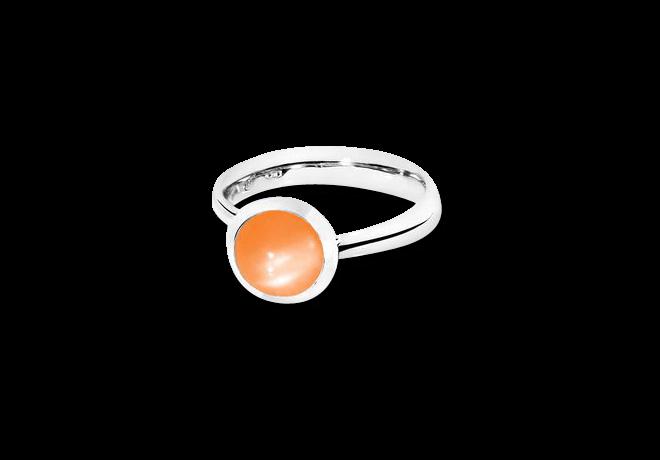 Ring Tamara Comolli Bouton Orangefarbener Mondstein S aus 750 Weißgold mit 1 Mondstein