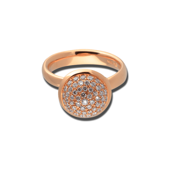 Ring Tamara Comolli Bouton Pavé L aus 750 Roségold mit mehreren Brillanten (0,75 Karat)