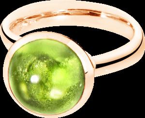 Ring Tamara Comolli Bouton Peridot L aus 750 Roségold mit 1 Peridot