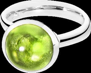 Ring Tamara Comolli Bouton Peridot L aus 750 Weißgold mit 1 Peridot