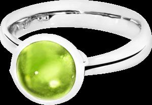 Ring Tamara Comolli Bouton Peridot S aus 750 Weißgold mit 1 Peridot