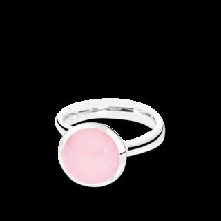 Tamara Comolli Ring Bouton Pinkfarbener Chalcedon L R-BOU-L-CHPI-WG
