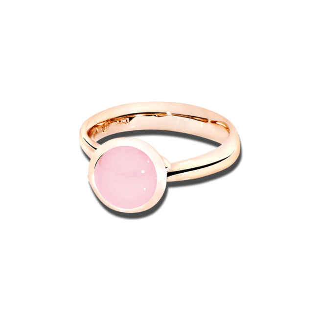 Ring Tamara Comolli Bouton Pinkfarbener Chalcedon S aus 750 Roségold mit 1 Chalcedon