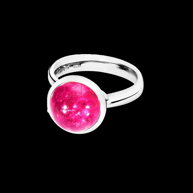Ring Tamara Comolli Bouton Pinkfarbener Turmalin L aus 750 Weißgold mit 1 Turmalin
