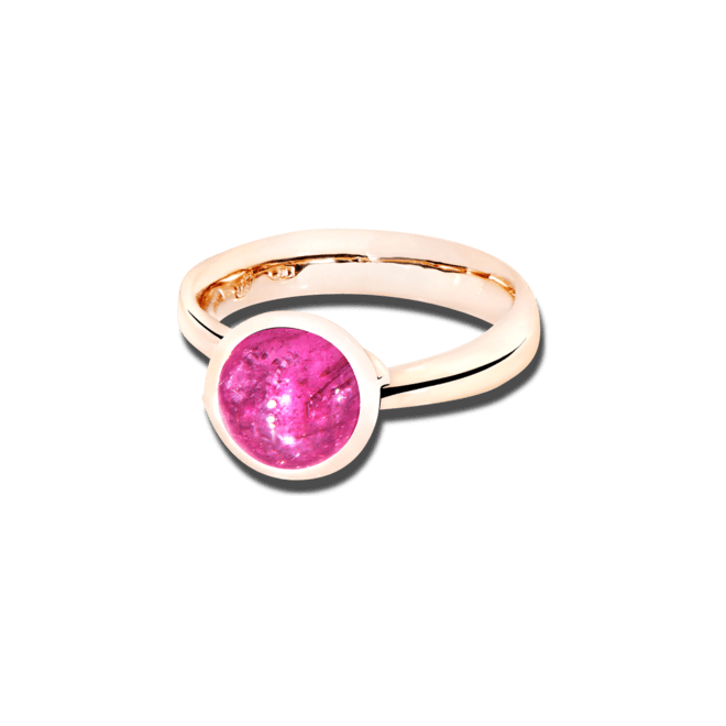Ring Tamara Comolli Bouton Pinkfarbener Turmalin S aus 750 Roségold mit 1 Turmalin