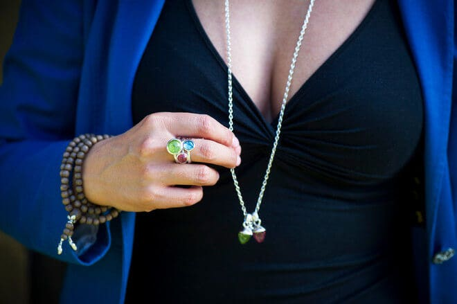 Ring Tamara Comolli Bouton Pinkfarbener Turmalin S aus 750 Weißgold mit 1 Turmalin