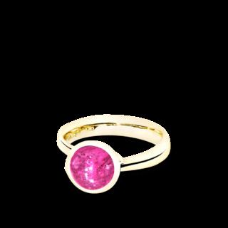 Tamara Comolli Ring Bouton Pinkfarbener Turmalin S R-BOU-S-TUPI-YG