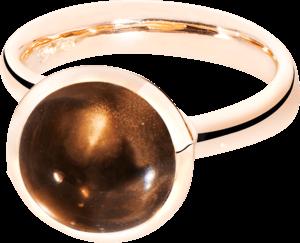 Ring Tamara Comolli Bouton Rauchquarz L aus 750 Roségold mit 1 Rauchquarz