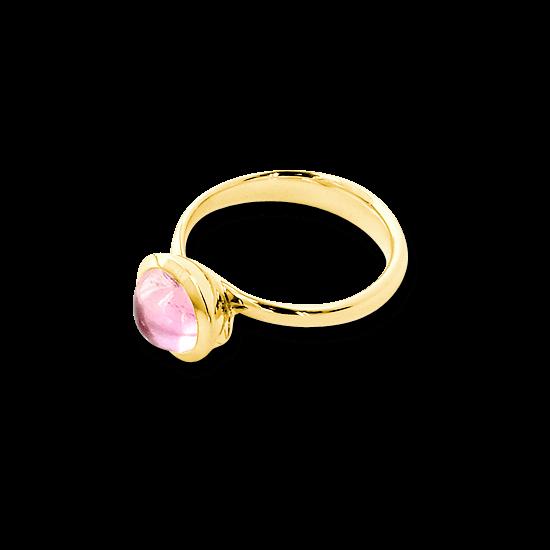 Ring Tamara Comolli Bouton Rosa Turmalin S aus 750 Gelbgold mit 1 Turmalin