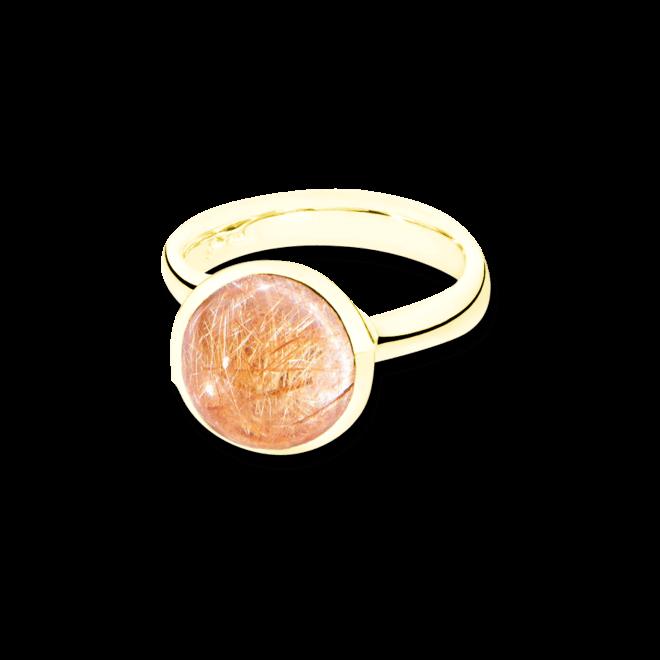 Ring Tamara Comolli Bouton Rutilquarz L aus 750 Gelbgold mit 1 Rutilquarz