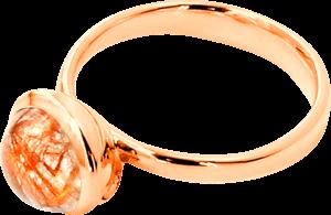 Ring Tamara Comolli Bouton Rutilquarz S aus 750 Roségold mit 1 Rutilquarz