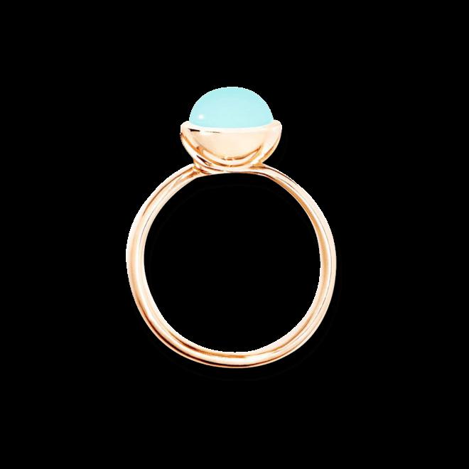 Ring Tamara Comolli Bouton S Aqua-Chalcedon aus 750 Roségold mit 1 Chalcedon