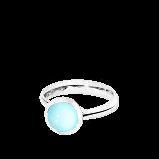 Tamara Comolli Ring Bouton S Aqua-Chalcedon R-BOU-S-CHAQ-WG