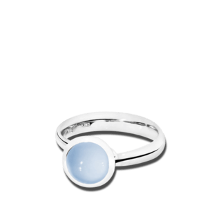 Tamara Comolli Ring Bouton S Blauer Chalcedon R-BOU-S-CHBL-WG
