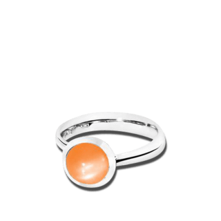 Tamara Comolli Ring Bouton S Orangefarbener Mondstein R-BOU-S-MOOR-WG
