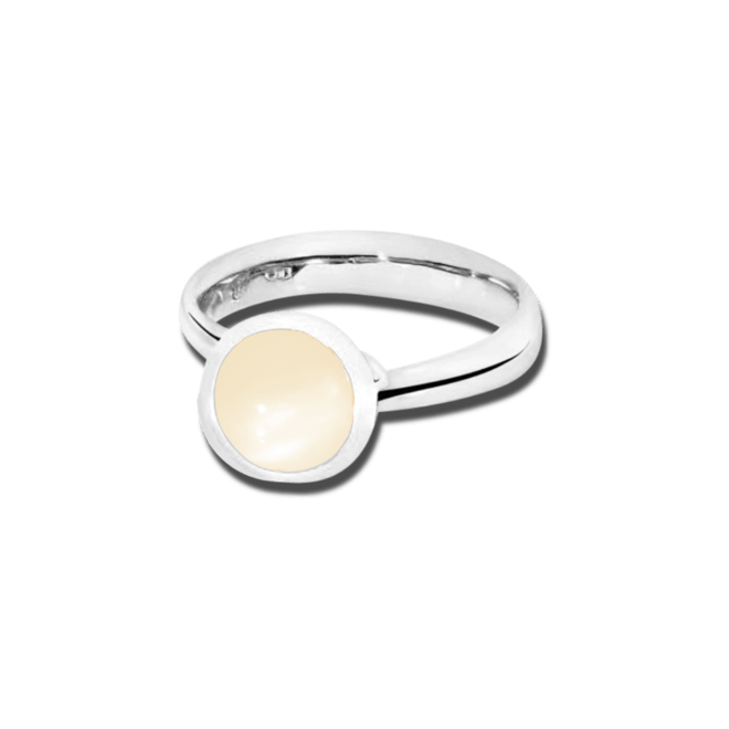Ring Tamara Comolli Bouton Sand-Mondstein S aus 750 Weißgold mit 1 Mondstein