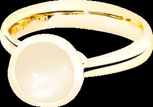 Ring Tamara Comolli Bouton Sand-Mondstein S aus 750 Gelbgold mit 1 Mondstein