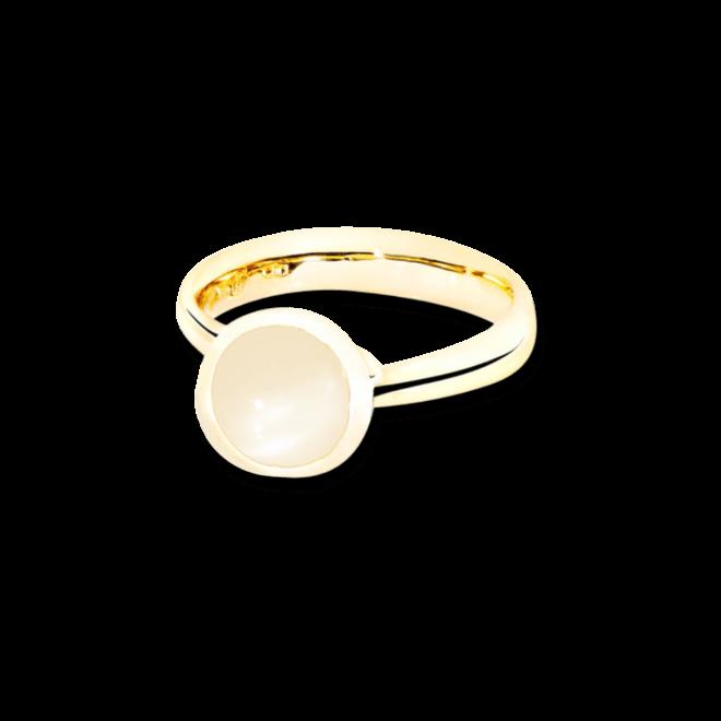 Ring Tamara Comolli Bouton Sand-Mondstein S aus 750 Gelbgold mit 1 Mondstein bei Brogle