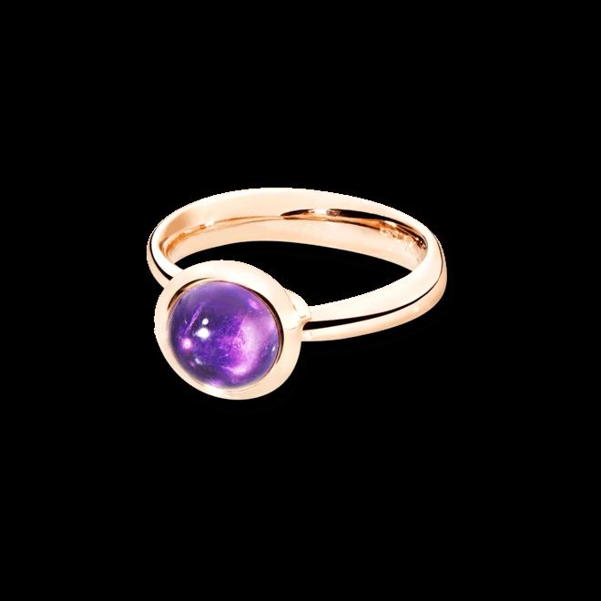 Ring Tamara Comolli Bouton Small Amethyst aus 750 Roségold mit 1 Amethyst