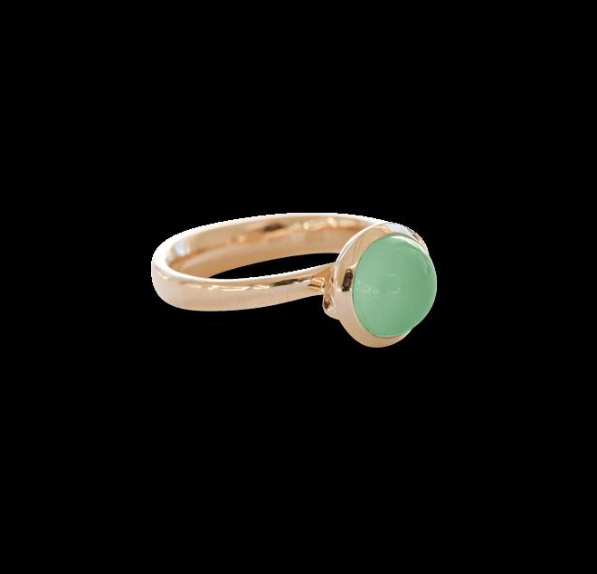 Ring Tamara Comolli Small Apfelgrüner Chalcedon aus 750 Roségold mit 1 Chalcedon